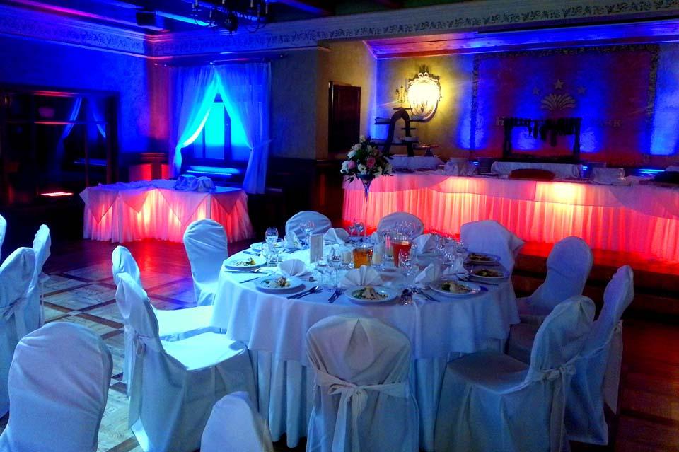 oświetlanie dekoracyjne na wesele